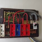 Old BS 3037 Fuse Board - Fuses Removed