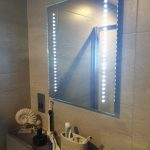 Heated Bluetooth bathroom mirrors with speakers
