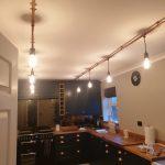 Copper pipe lighting installs
